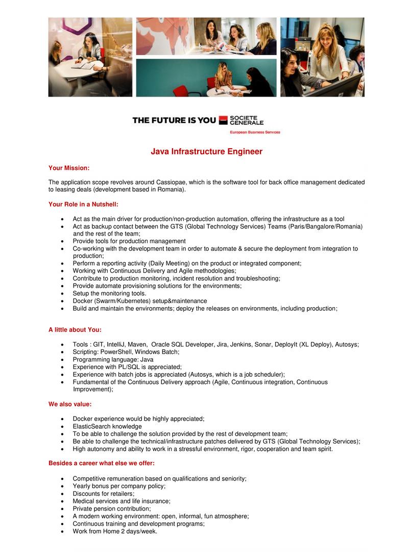 Java Infrastructure Engineer (external)