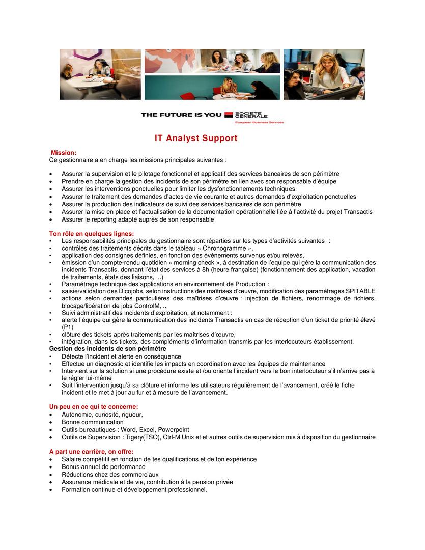 IT Support Analyst Transactis - Hipo-1