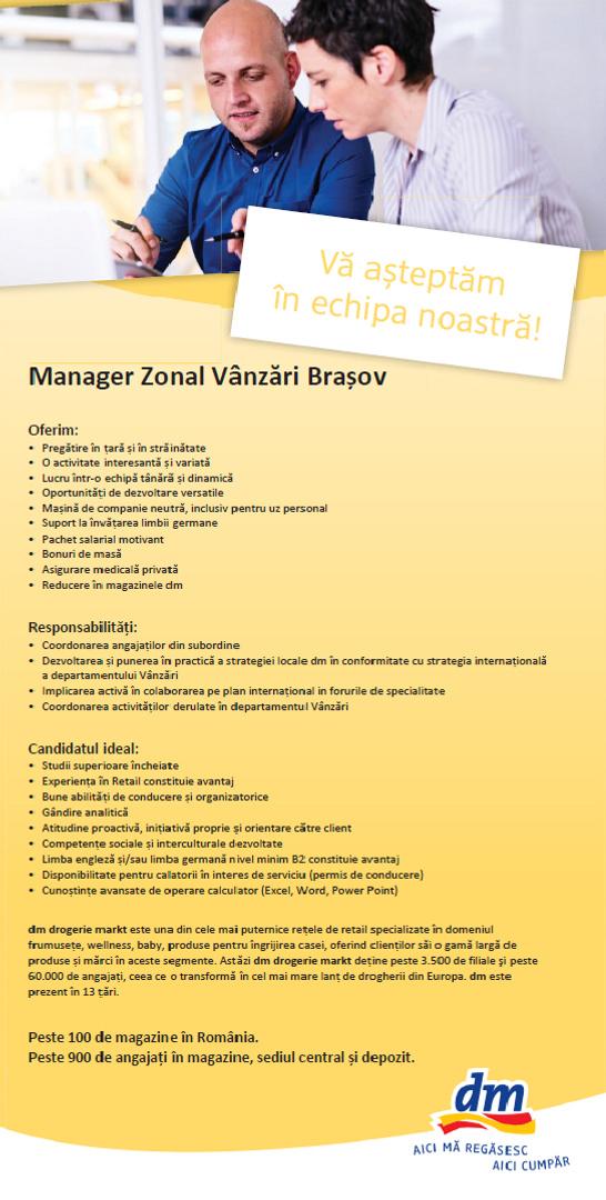 manager zonal Brasov