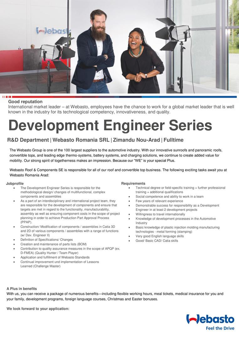 Development engineer serie-1