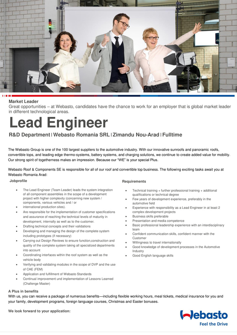 Lead engineer development