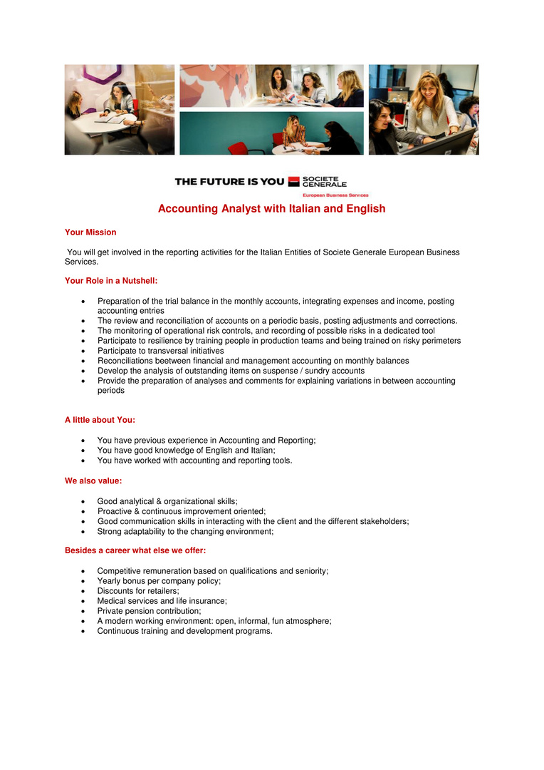 Accounting Analyst with Italian-1