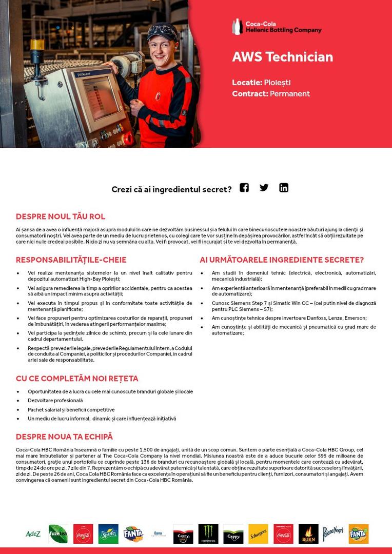 AWS Technician - Ploiesti