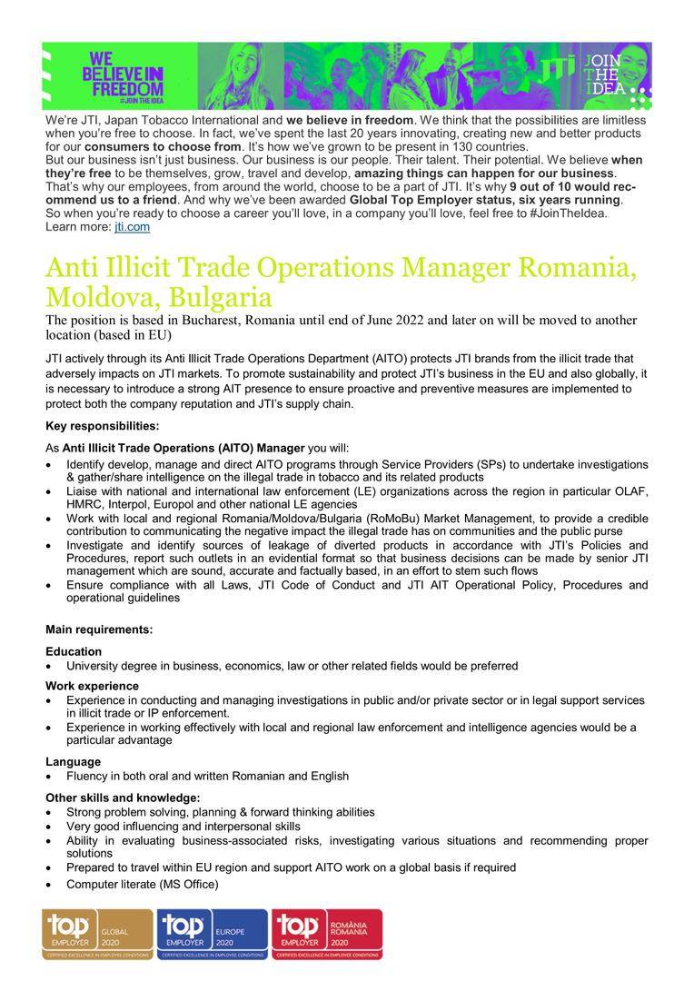 Job Opening_AITO Manager_RoMoBu_Best Jobs