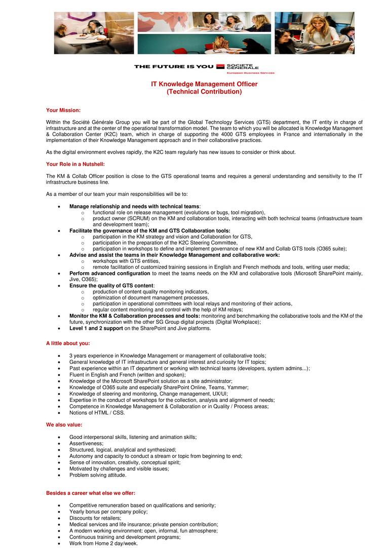 SG EBS_IT Knowledge Management Officer-1