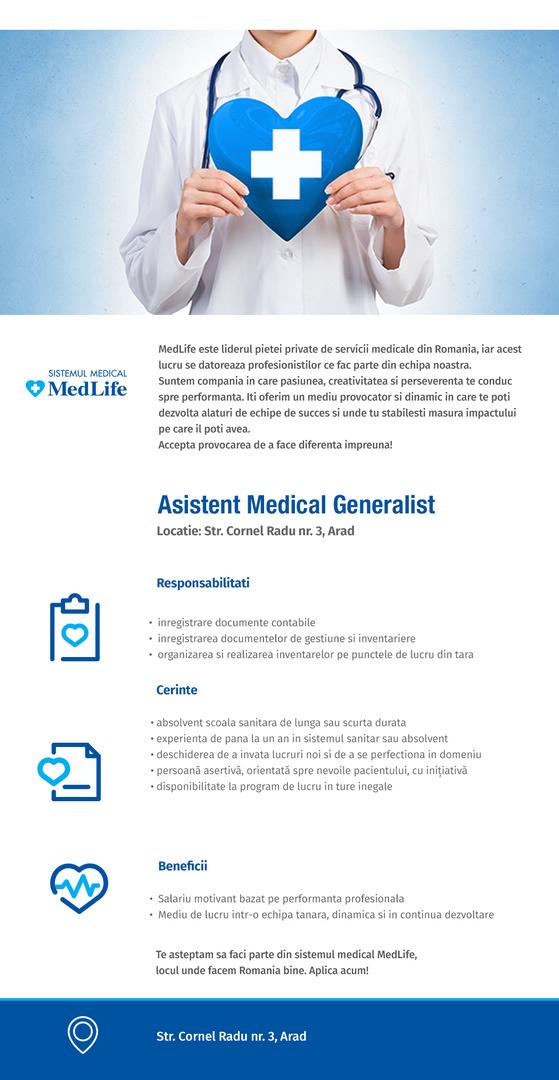 Asistent medical - Clinica Arad