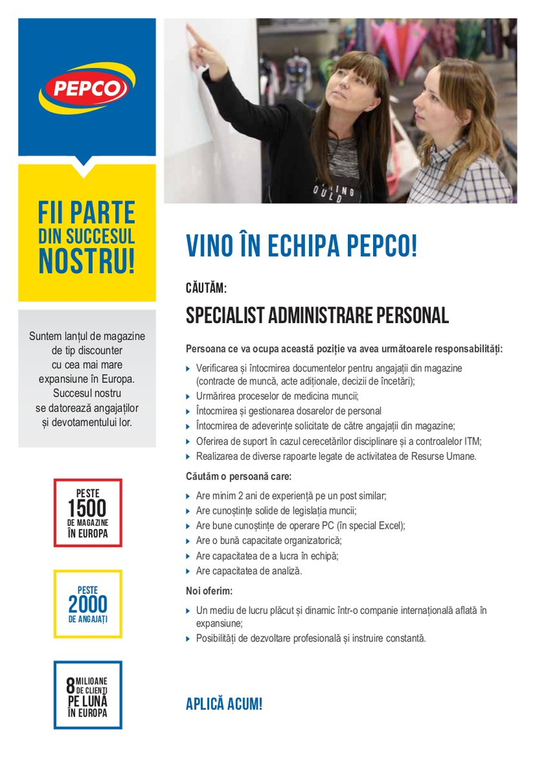 Specialist Administrare Personal