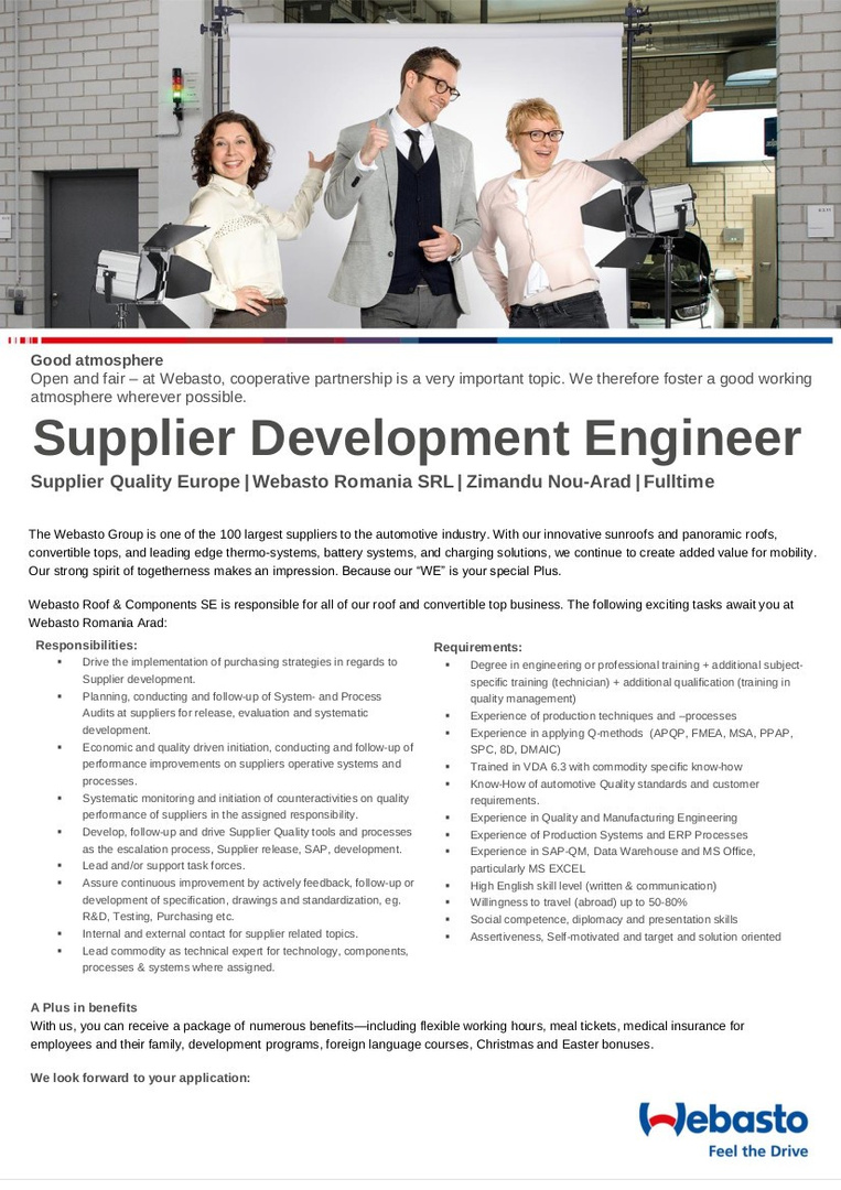 Supplyer Development Engineer