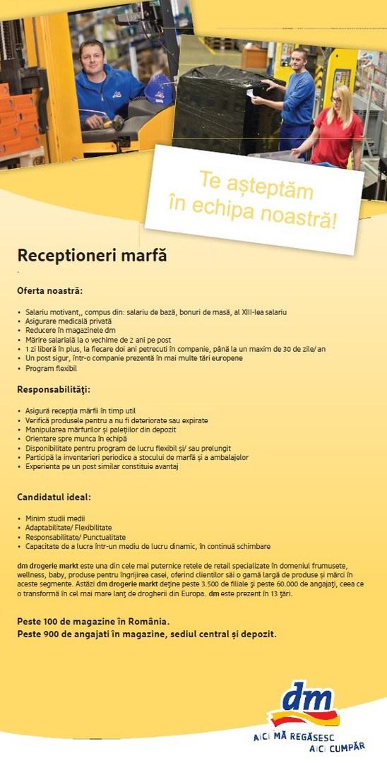 RECEPTIONERI MARFA