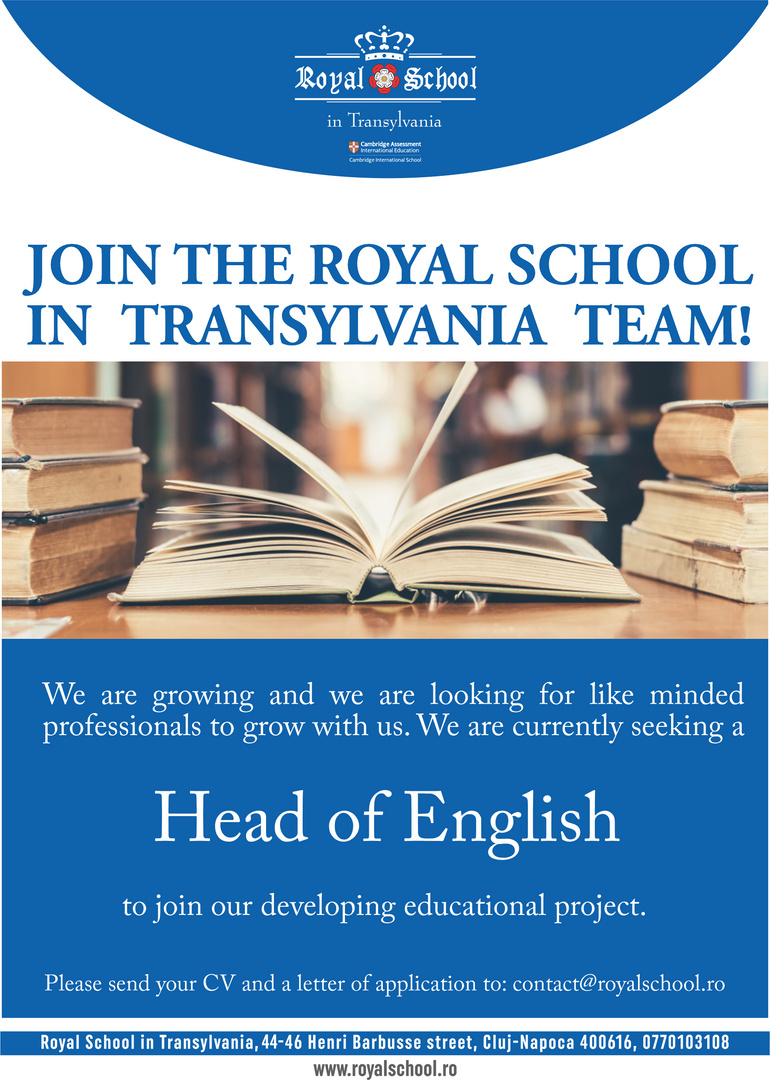 anunt Head of English