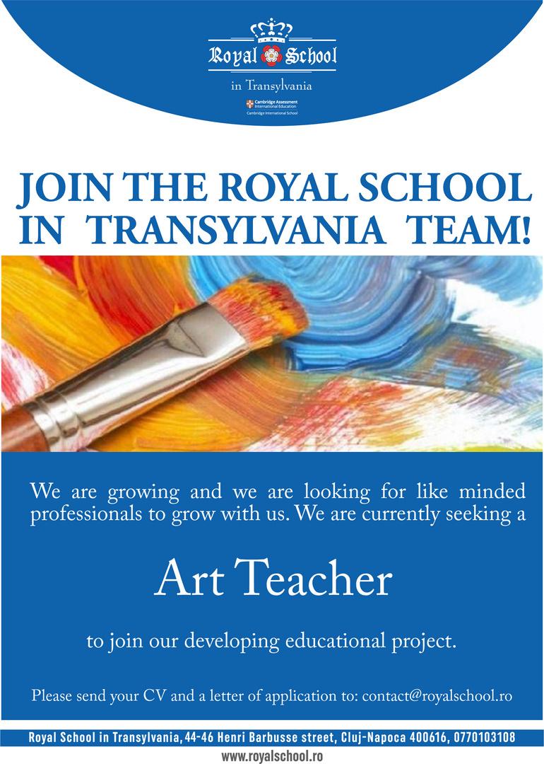 anunt Art Teacher