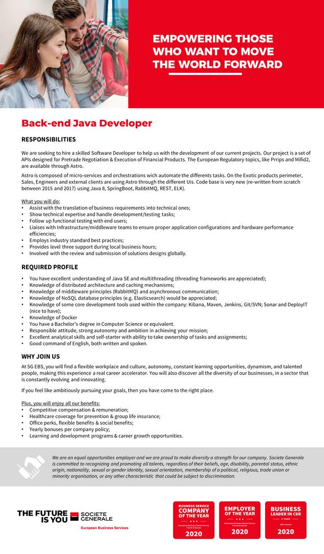 Back-end Java Developer-ASTRO