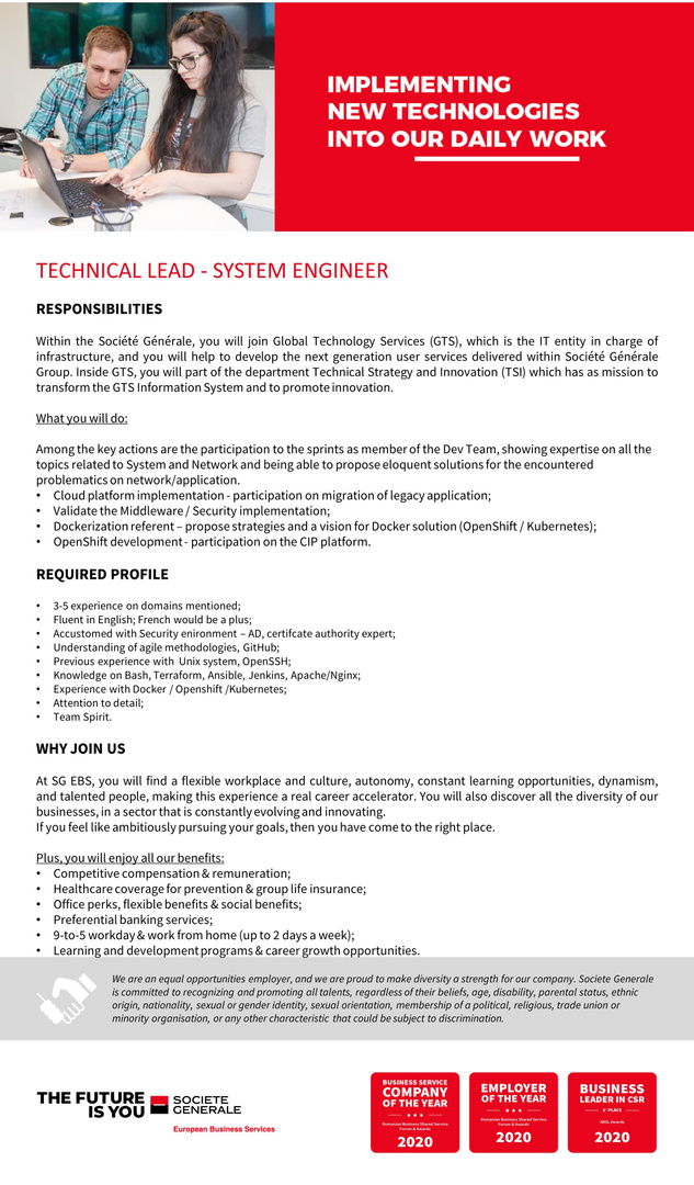 JD_SGEBS_ Technical Lead System Engineer