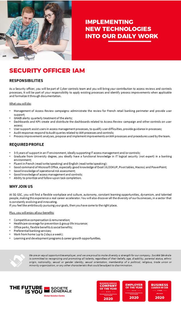 JD_SGGSC_Security Officer IAM