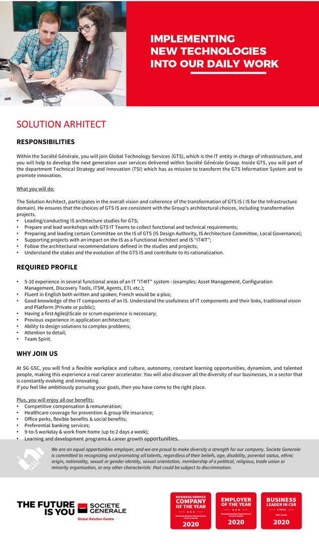 JD_SGGSC_Solution Arhitect