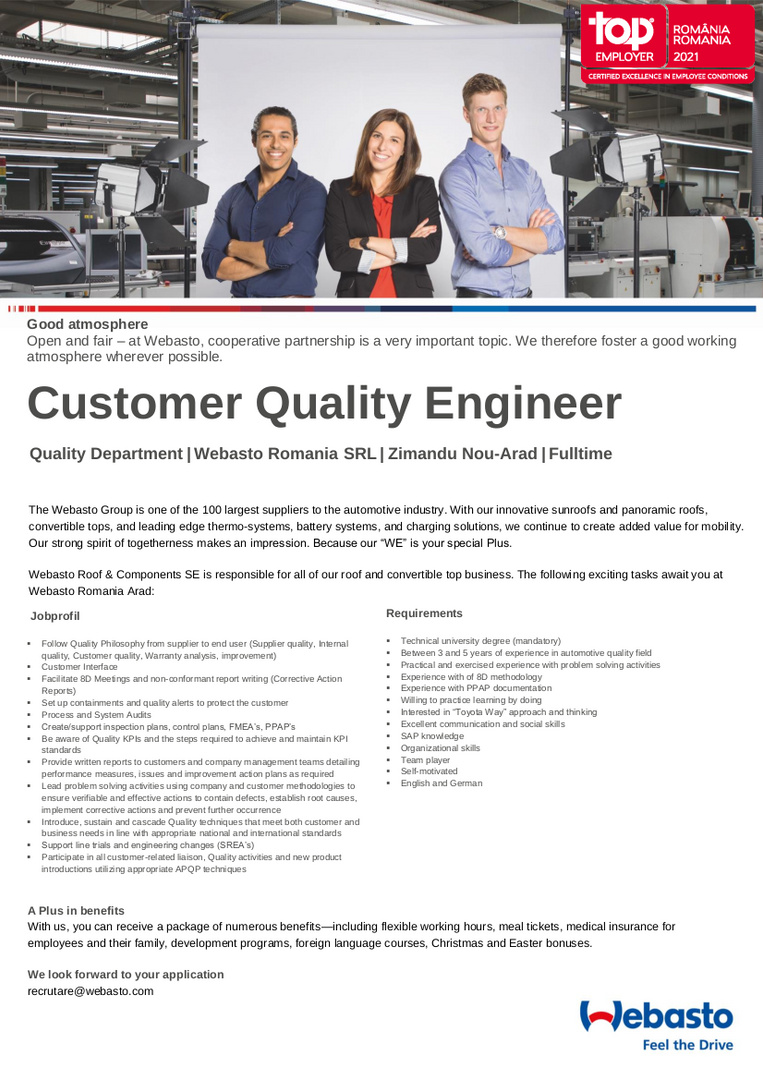 Customer Quality Engineer