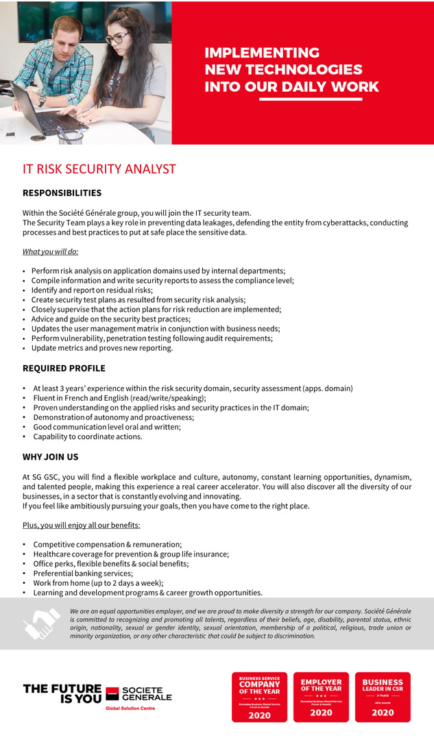 JD_SGGSC_ IT Risk Security Analyst