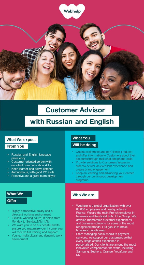 Customer Advisor with Russian and English
